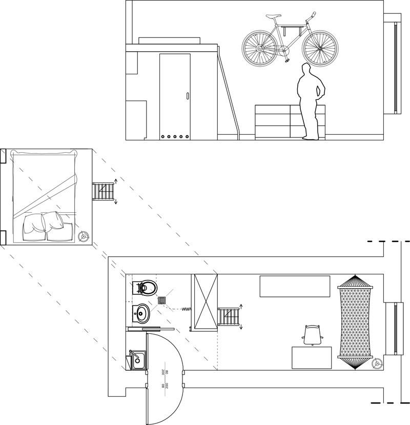 petit plan d'étage de l'appartement