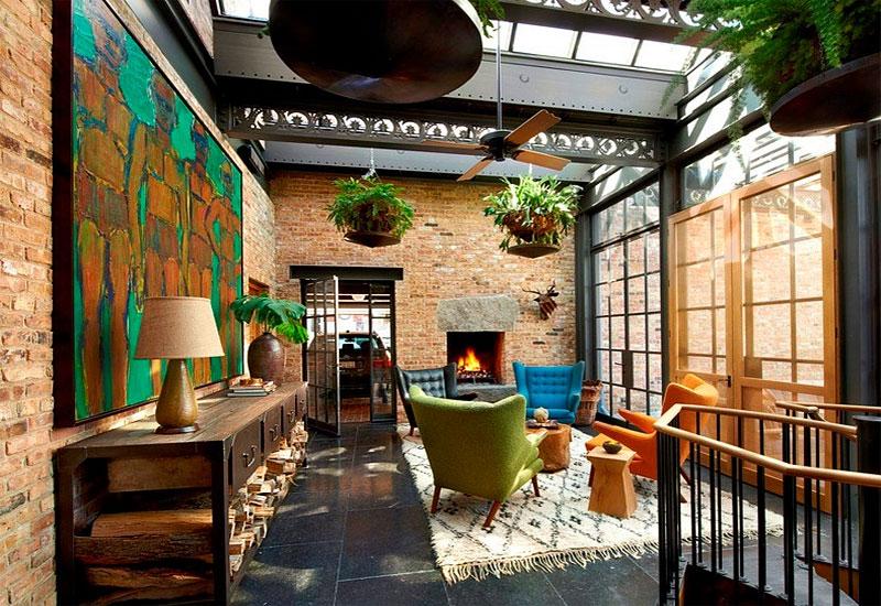 jardinières suspendues décoration de plantes vertes