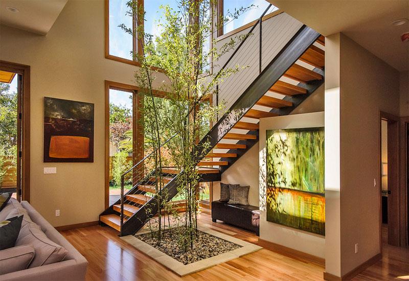 décoration intérieure de plantes vertes de bambou