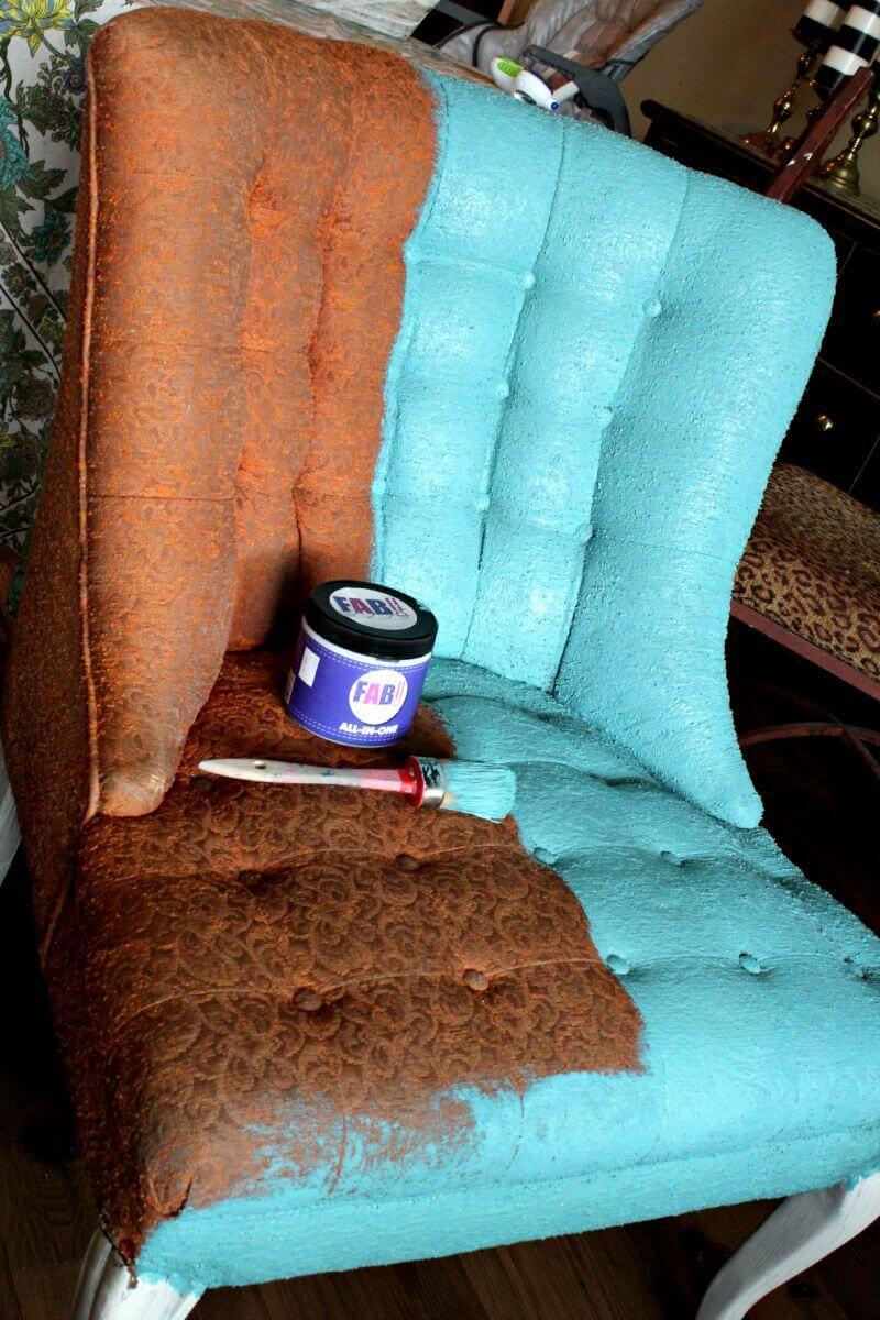 Chaise en tissu Versailles-Meets-Miami