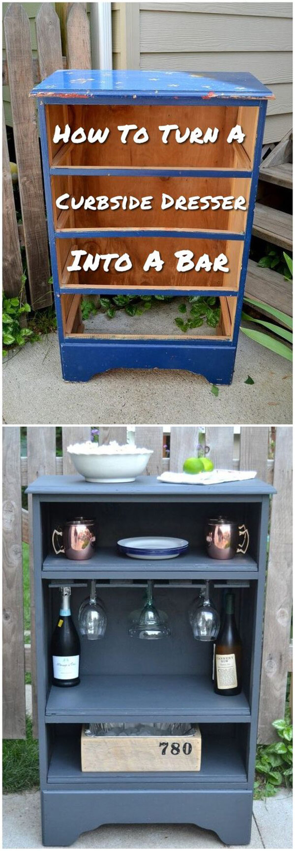 Mini-bar d'armoire reconstitué