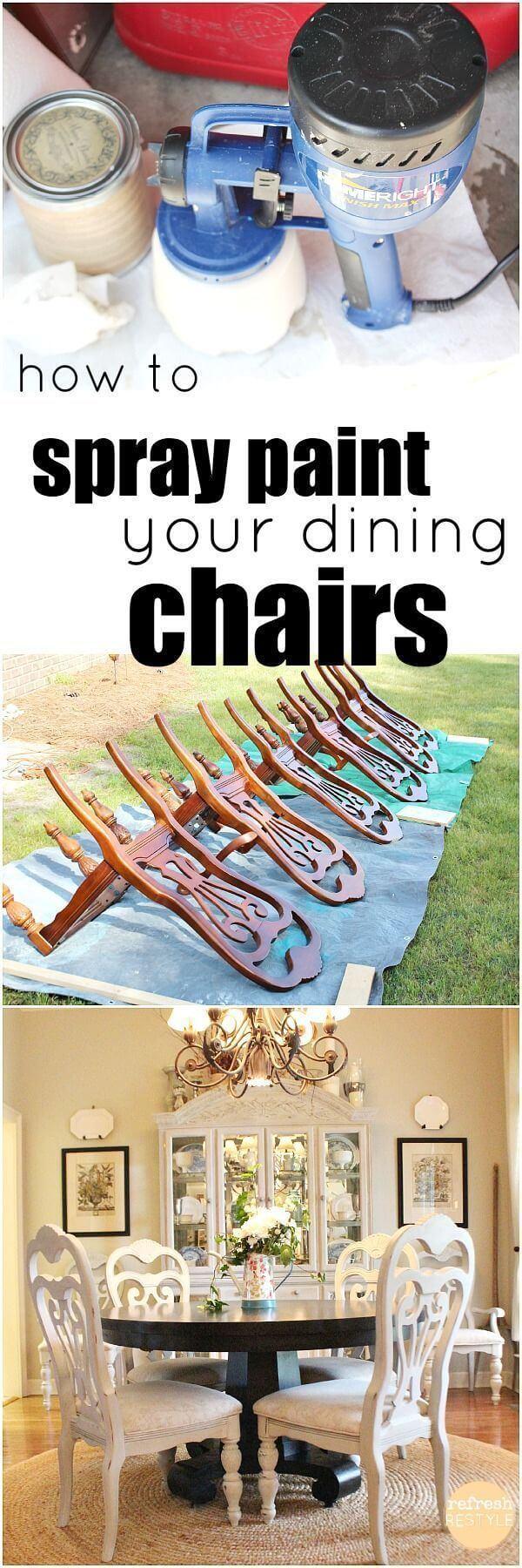 Idées de relooking de meubles peints à la bombe