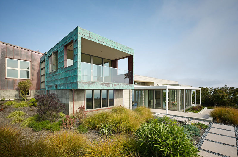 Extérieur de la maison côtière de San Francisco
