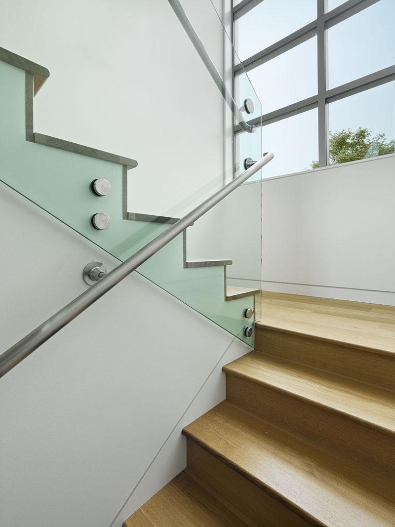 Escaliers de la maison côtière de San Francisco