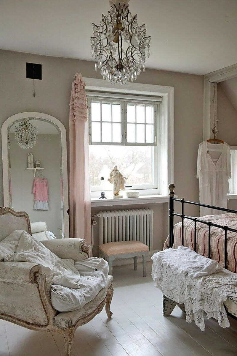 Chambre Shabby inspirée de Versailles