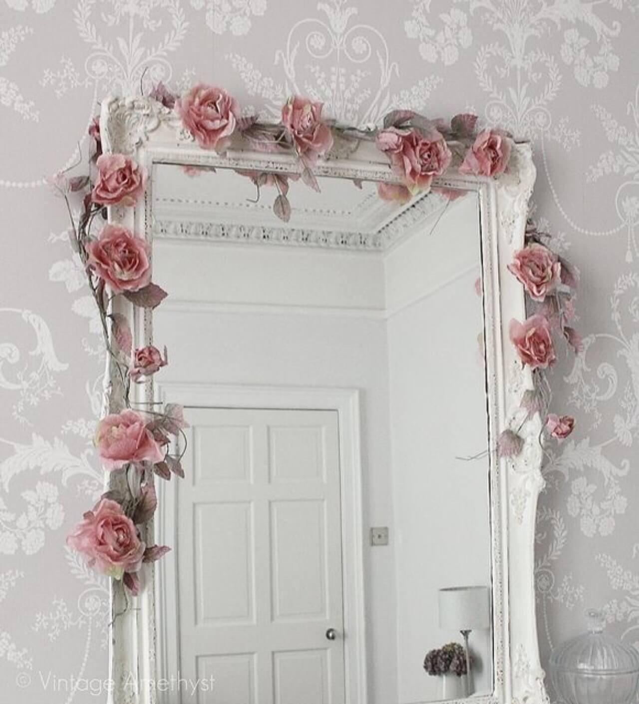 Guirlande de miroirs Bella Rosa