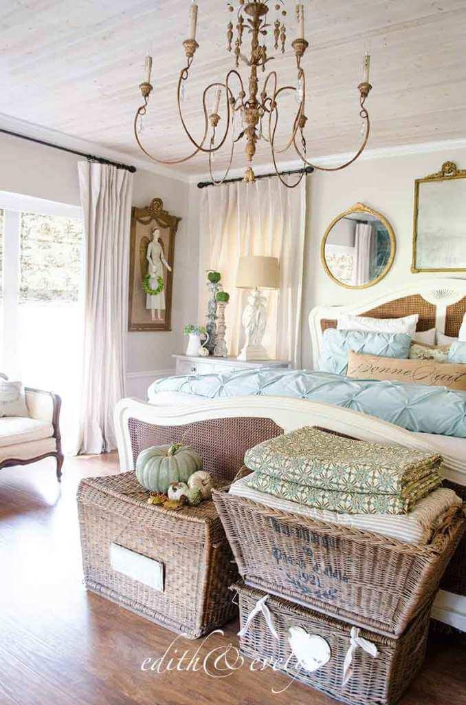 Idées de décoration de chambre romantique pour blanchisserie luxueuse à petit budget