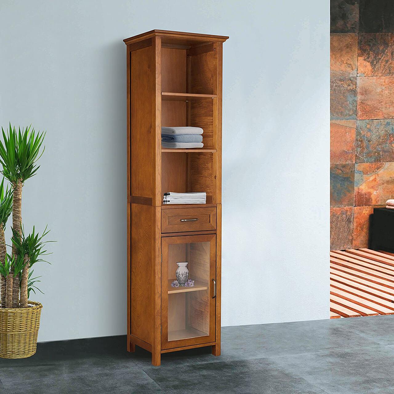 Élégante armoire à linge Anna de Home Fashion avec tiroir et 3 étagères