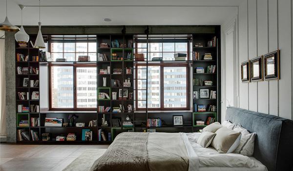 étagères à livres intégrées