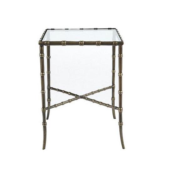 Table de bout en bambou