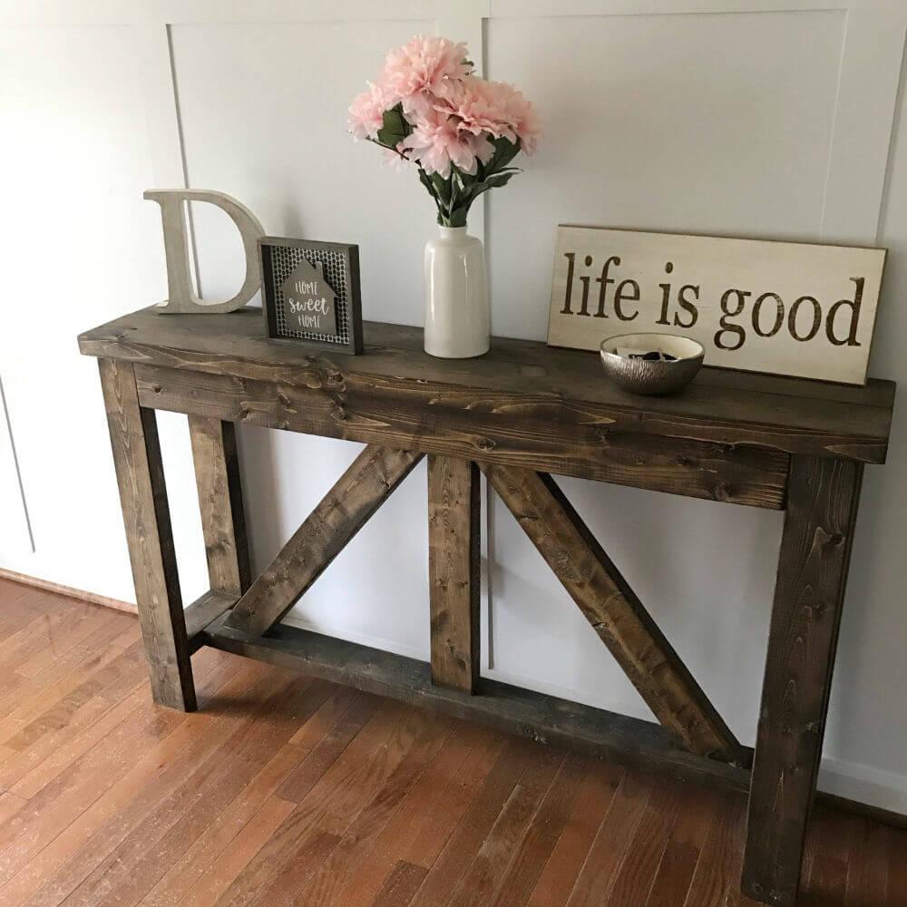 Table d'entrée en bois massif