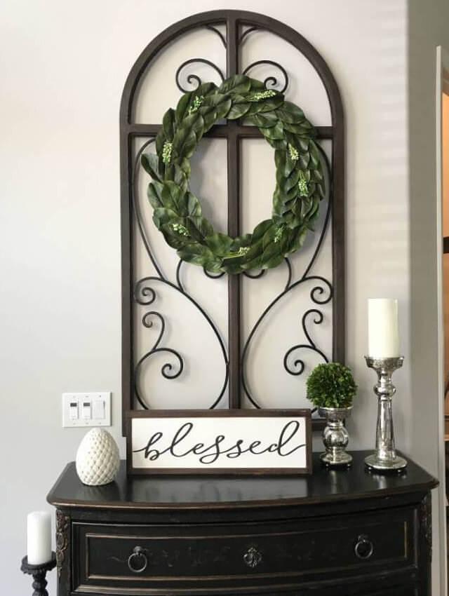 Magnifique couronne de magnolia pour votre porte