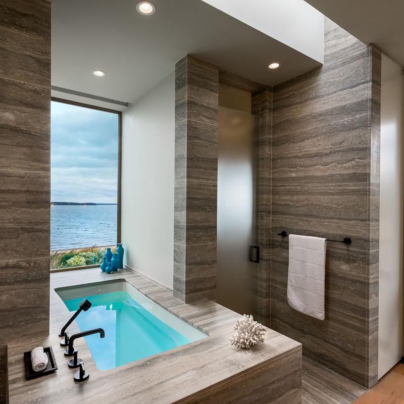 Salle de bain principale Long Island Home