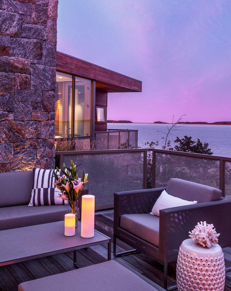 Terrasse de toit Long Island Home
