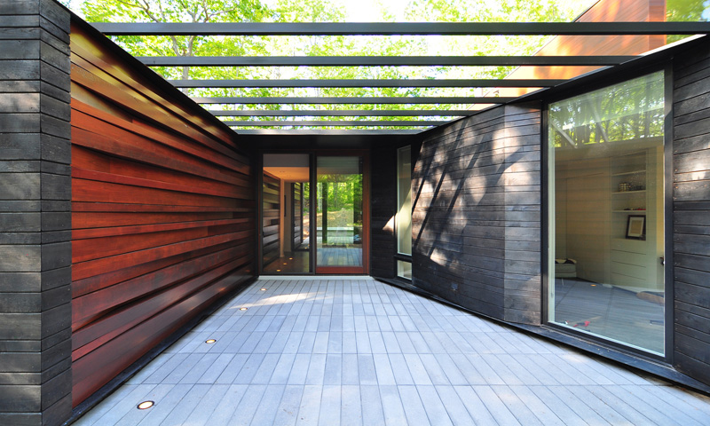 Mur de maison plissé
