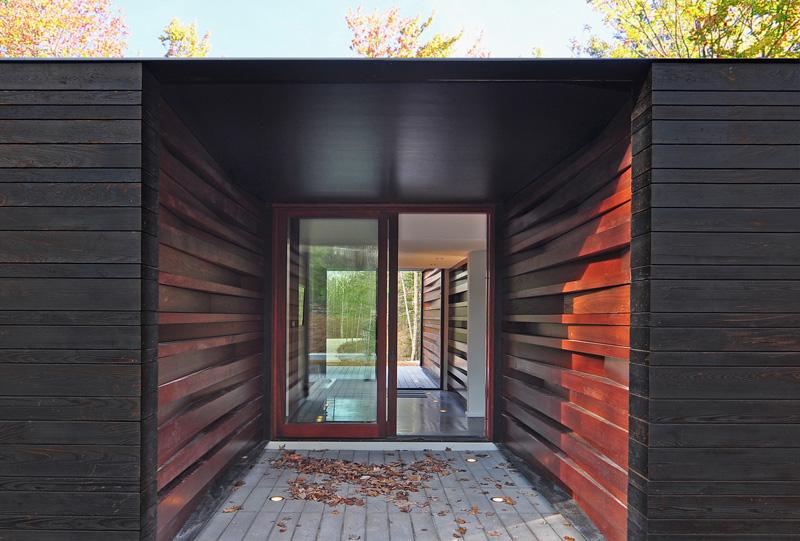Porte coulissante en verre Pleated House