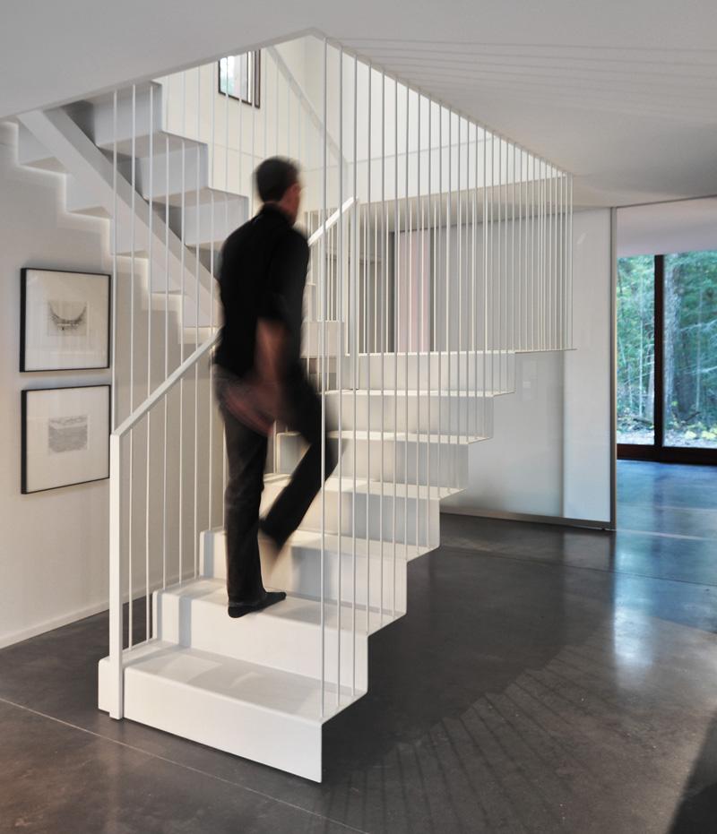 Escalier plissé de la maison