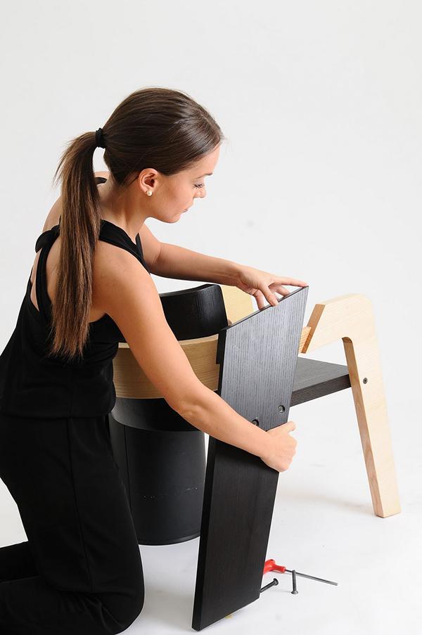Chaises en bois