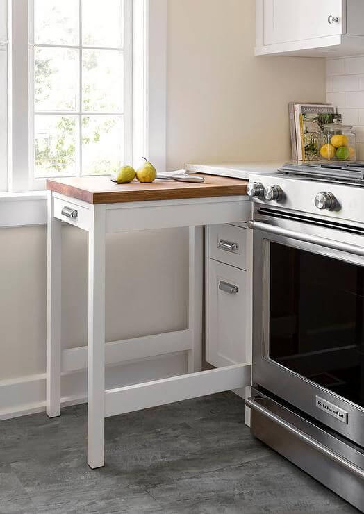 Petite idée de décoration de cuisine avec table pratique