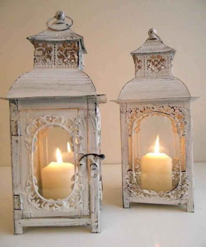 Décoration de lanternes à bougie d'aspect antique
