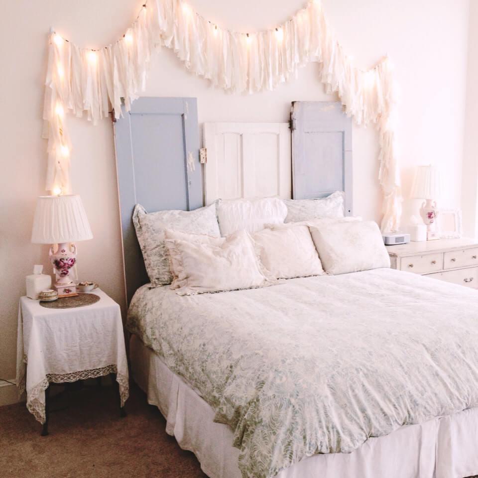 Projet de tête de lit de porte antique bricolage