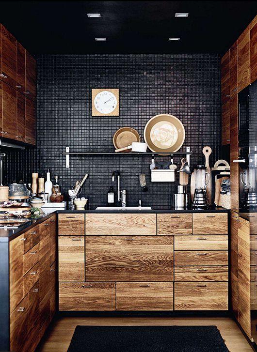 Noir qui est tout sauf une idée de conception de cuisine de base
