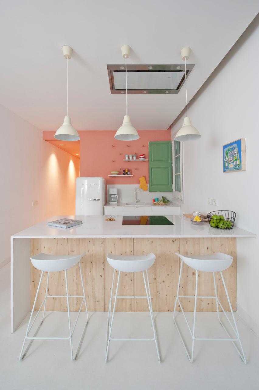 Touches originales pour une idée de conception de cuisine au look frais