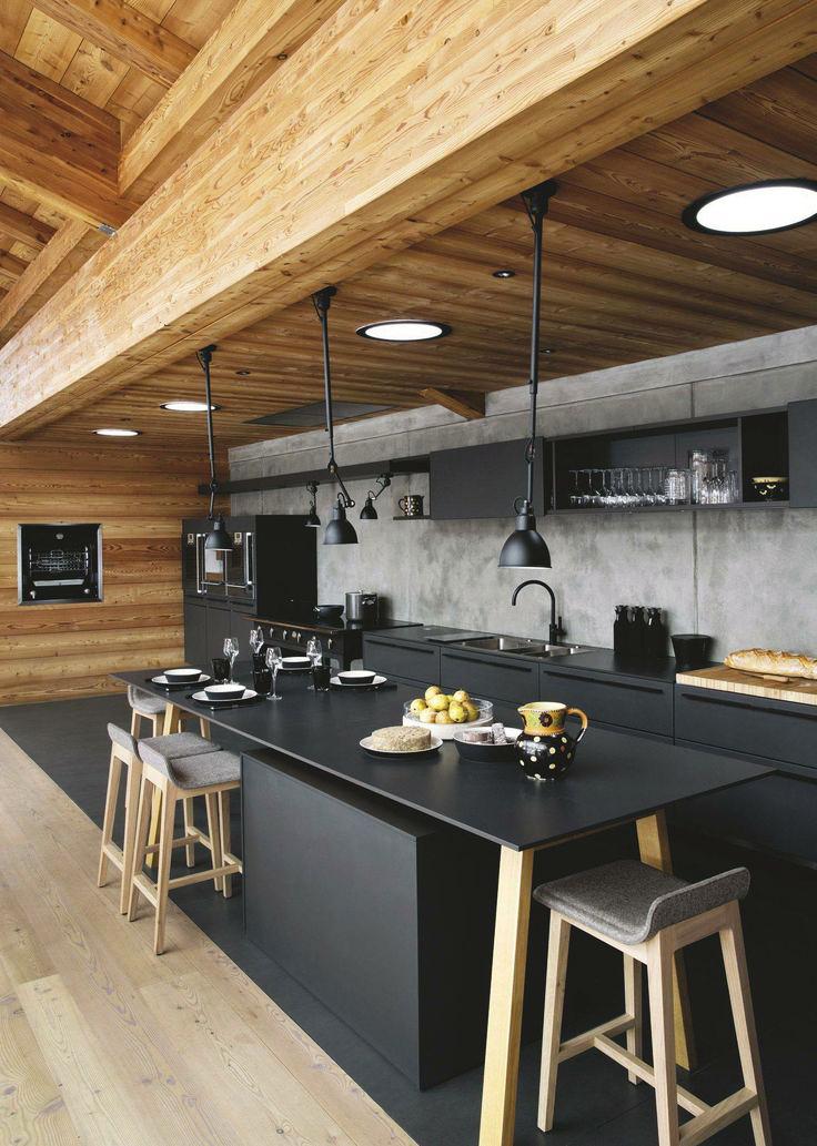 Touches cachées pour un design de cuisine de style élégant