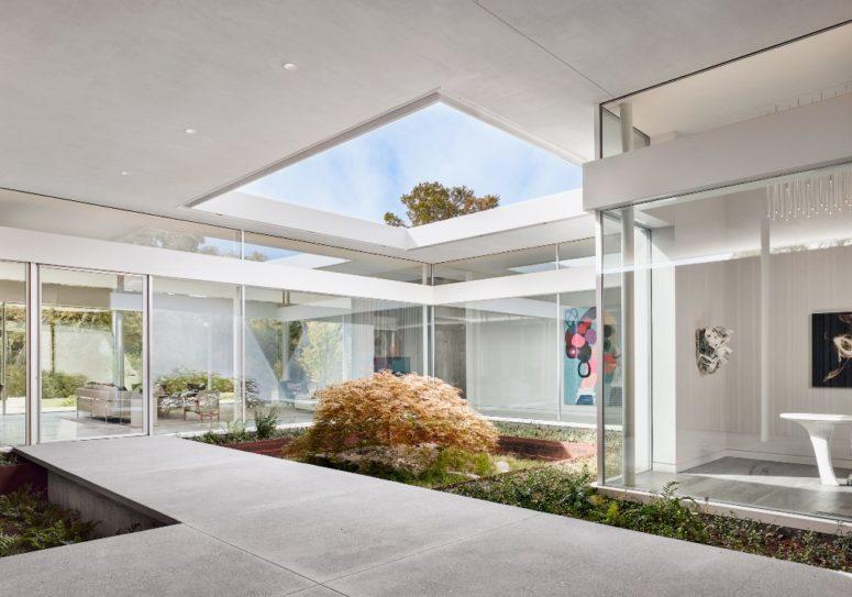 une cour intérieure est un ajout génial à toute maison