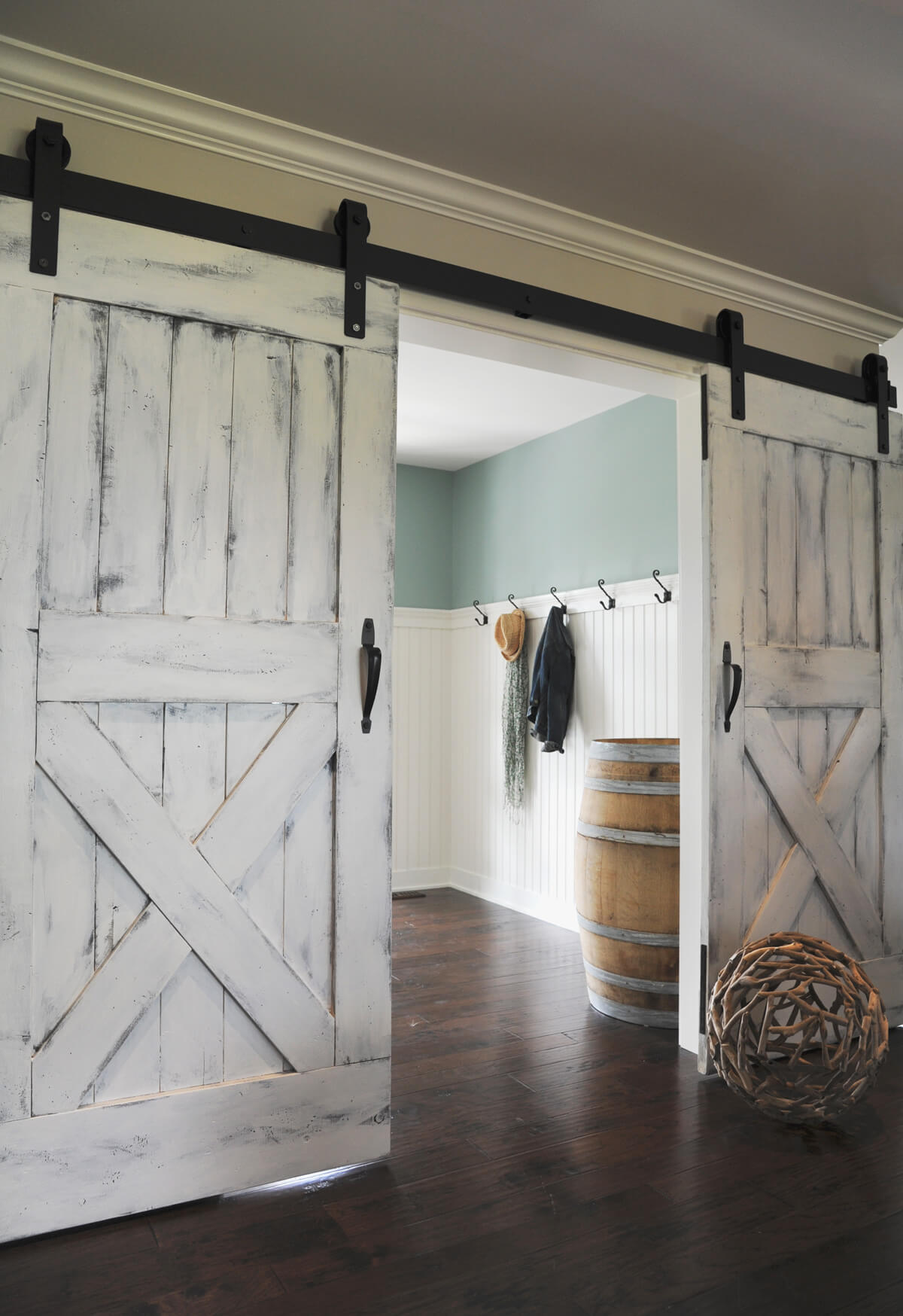 Portes de grange coulissantes Paint It White