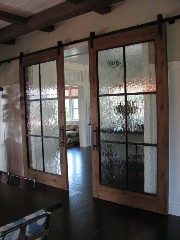 Portes à panneaux en verre à eau courante