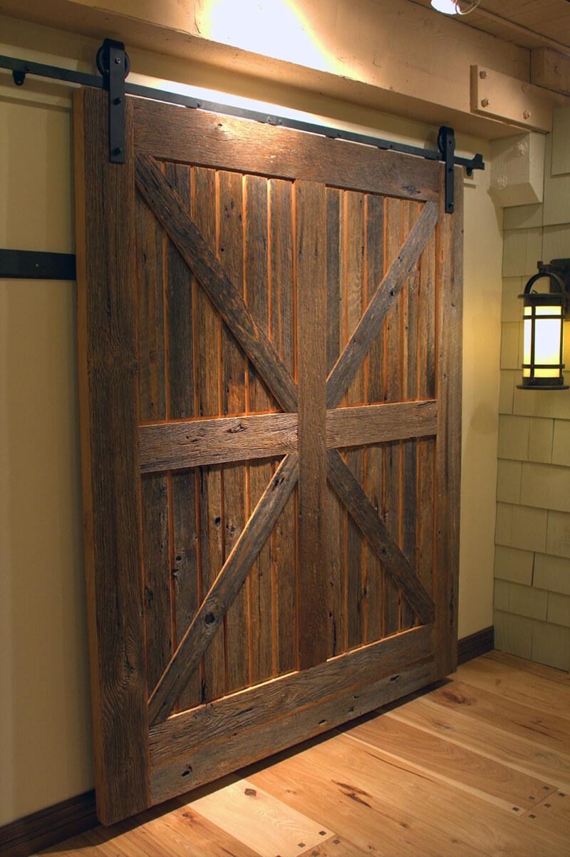 Porte coulissante surdimensionnée Barnyard Chalet