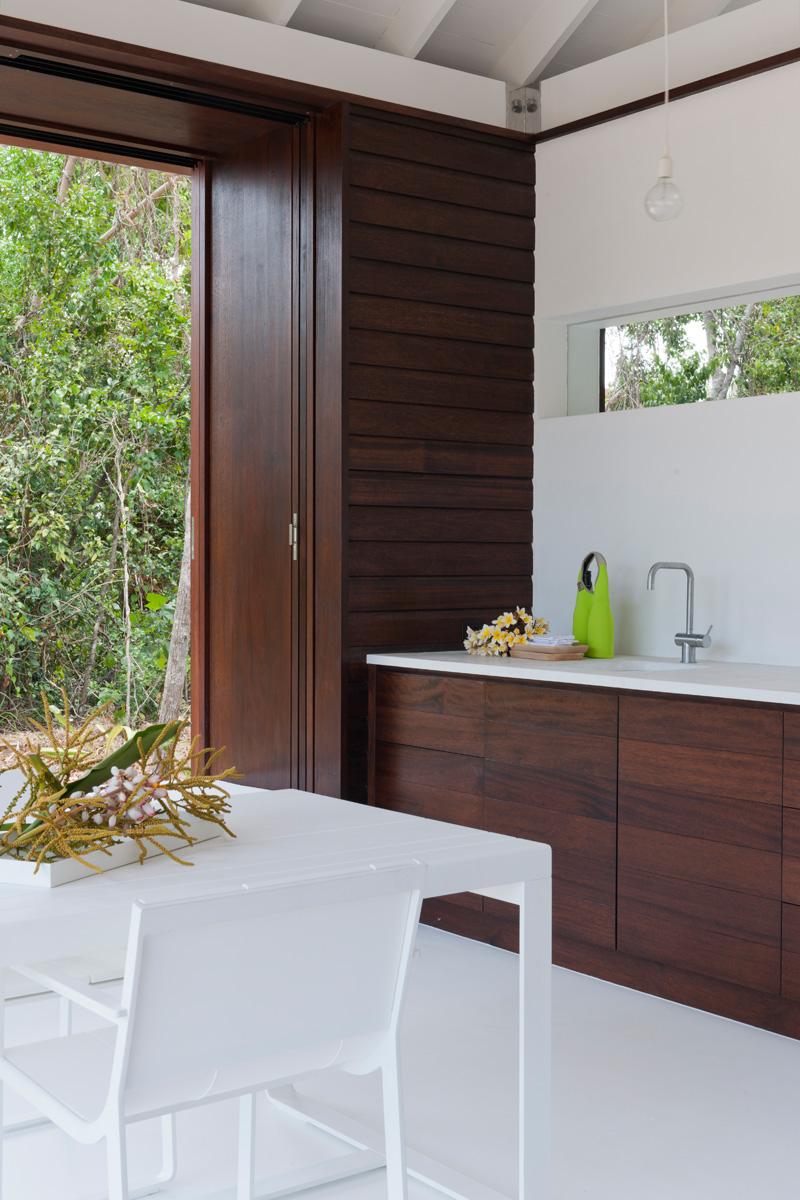 cuisine de maison de plage tropicale