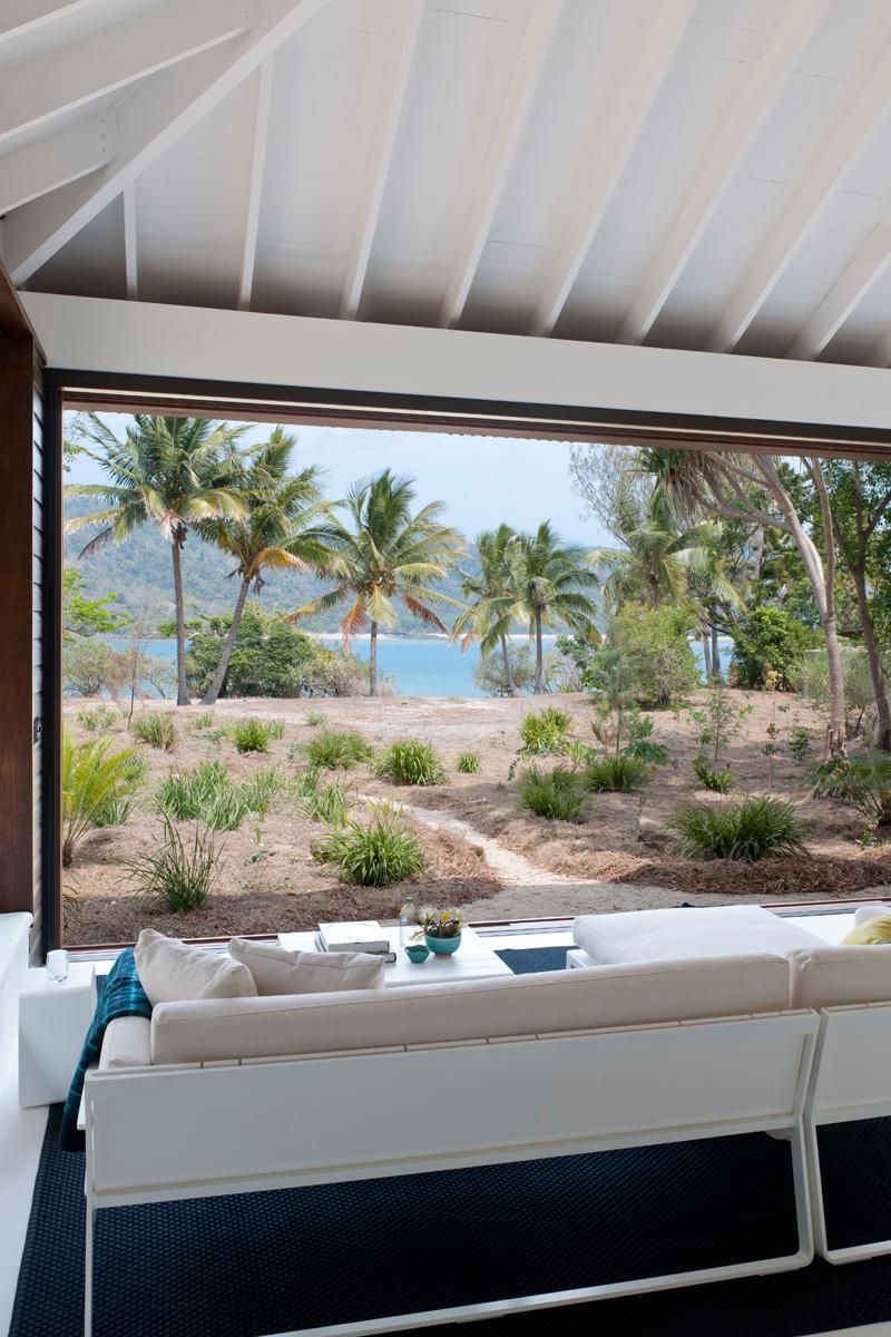 vue sur la maison de plage tropicale