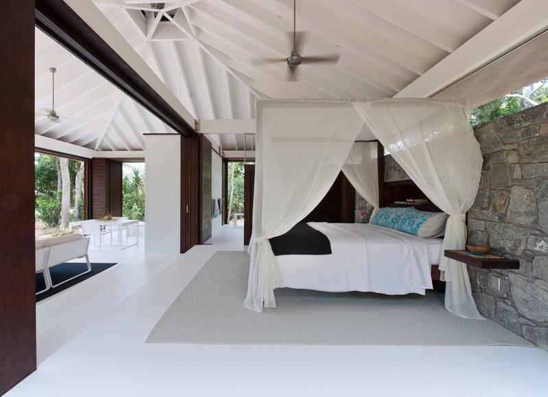 lit de maison de plage tropicale