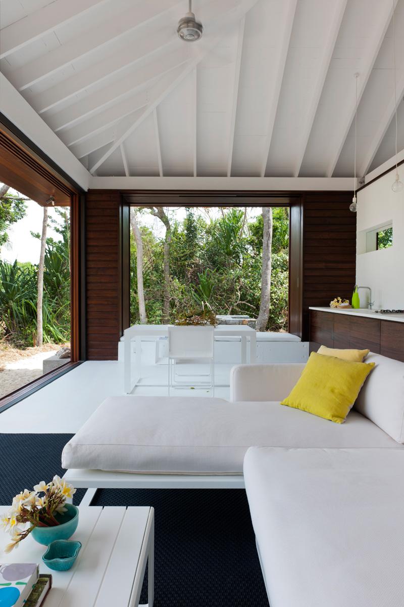 intérieurs de maison de plage tropicale