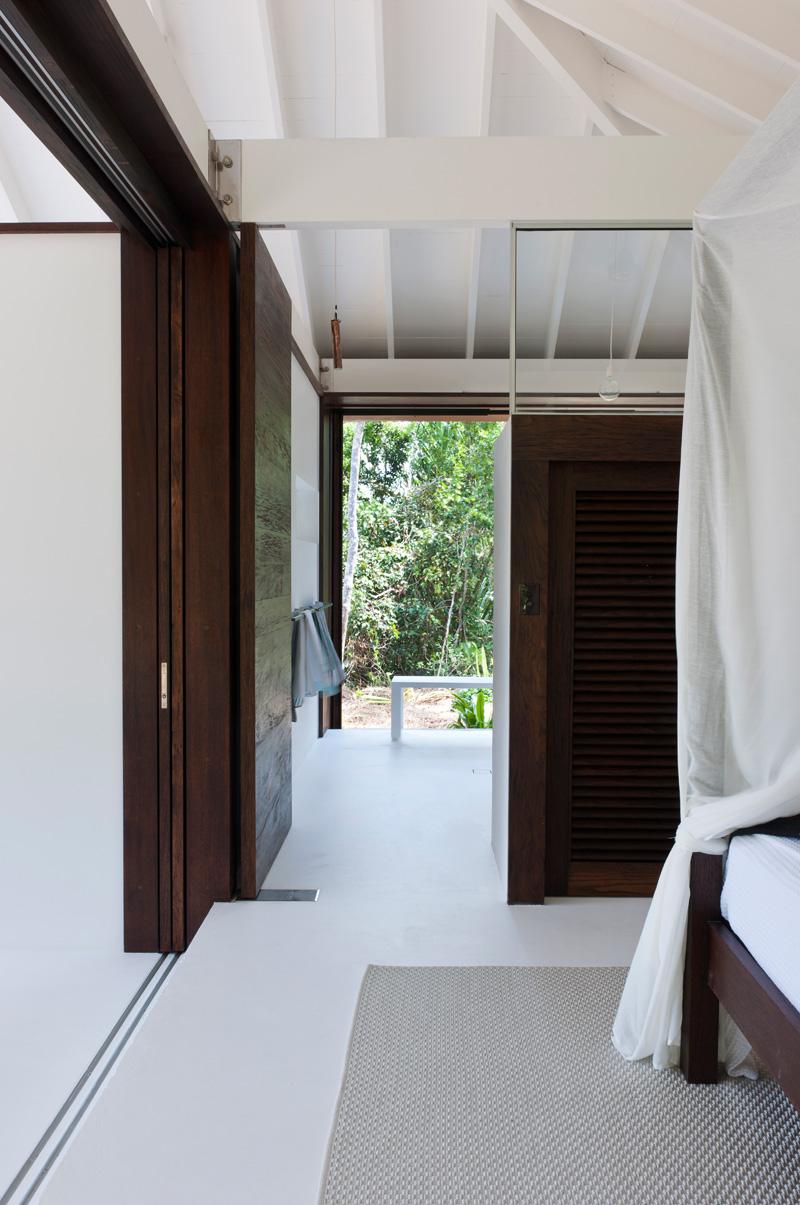 porte de maison de plage tropicale