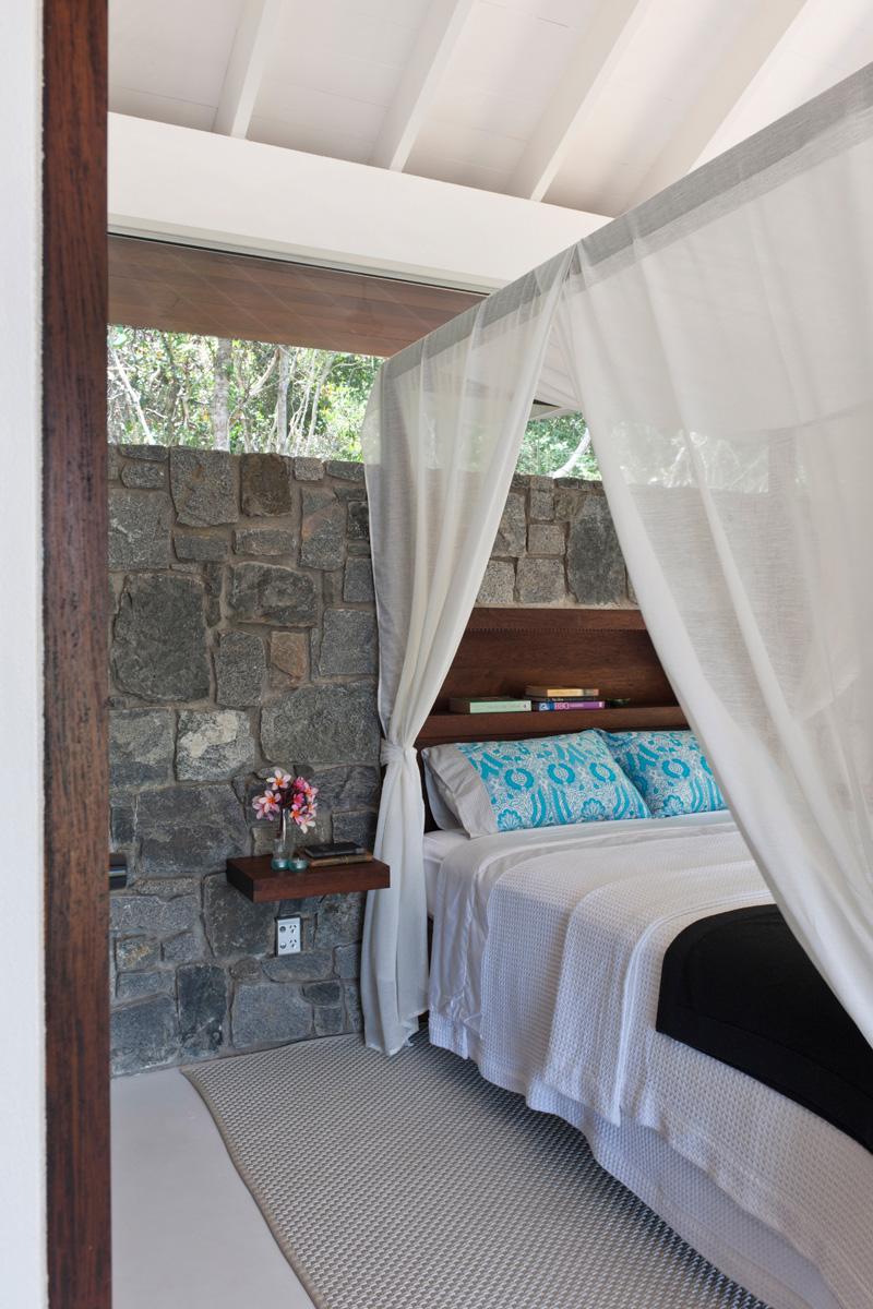chambre de maison de plage tropicale