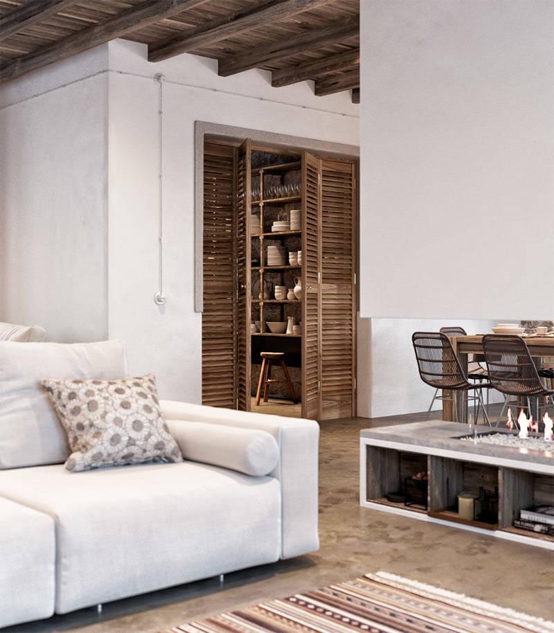 Design d'intérieur aux accents rustiques et méditerranéens