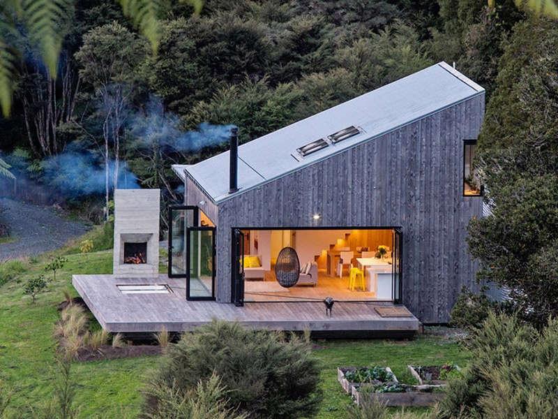 Cabane en rondins moderne