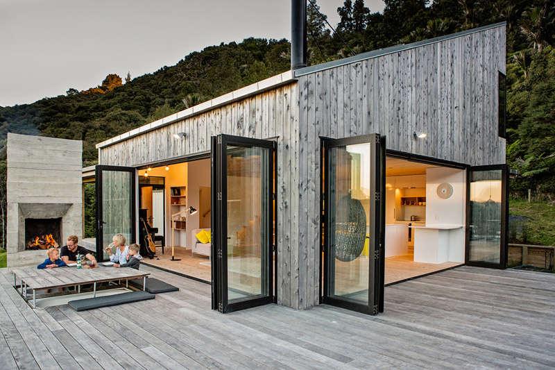 Maison en bois de conception moderne
