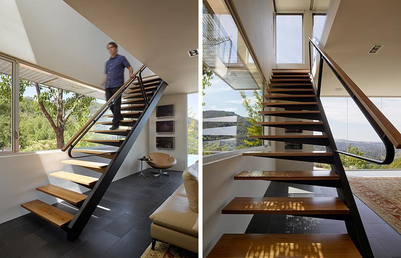 Escalier de revêtement Shou Sugi Ban