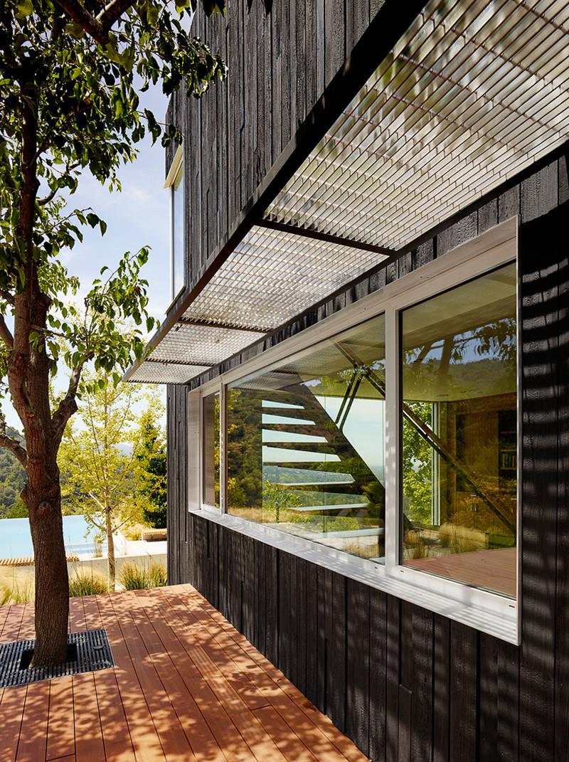Terrasse en bois Shou Sugi Ban Siding