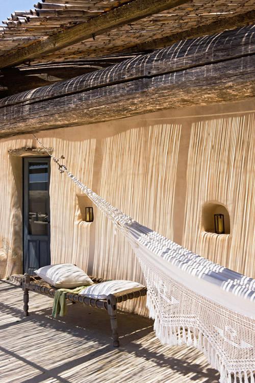 Façade extérieure d'une maison à Formentera