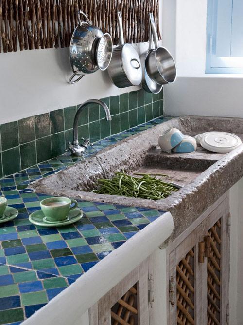 Carrelage et carrelage dans les cuisines méditerranéennes
