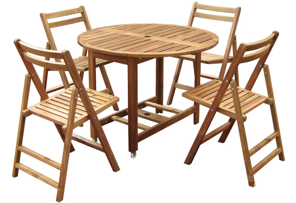 Ensemble de table pliante