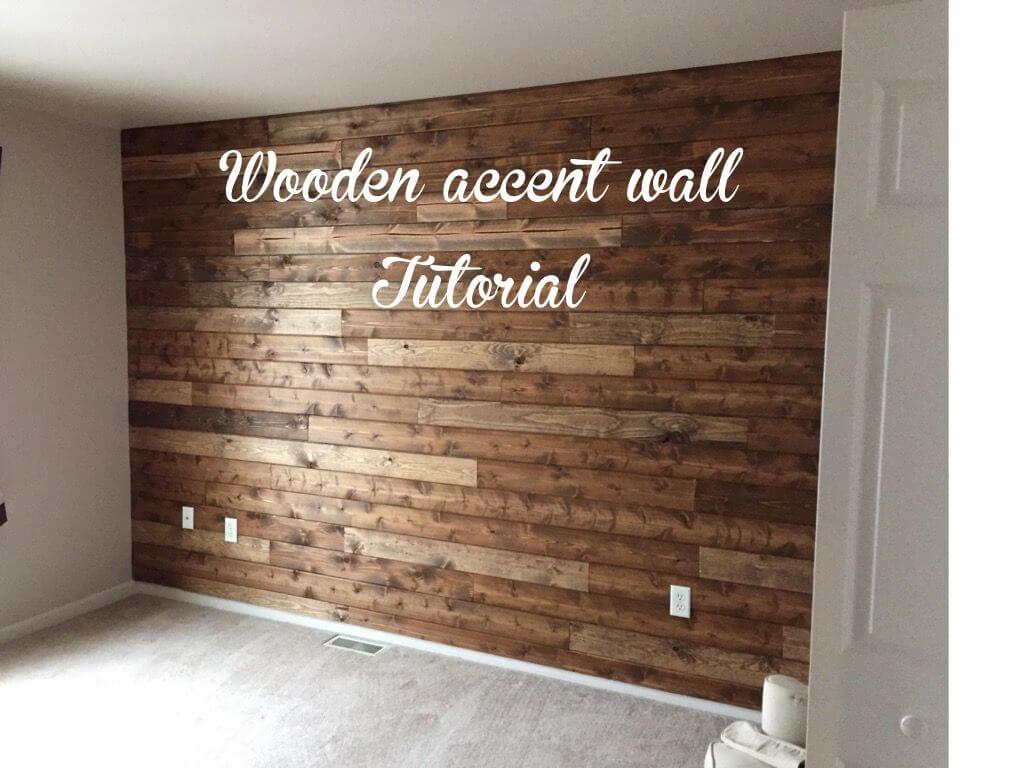 Mur en bois simple, lisse et brillant