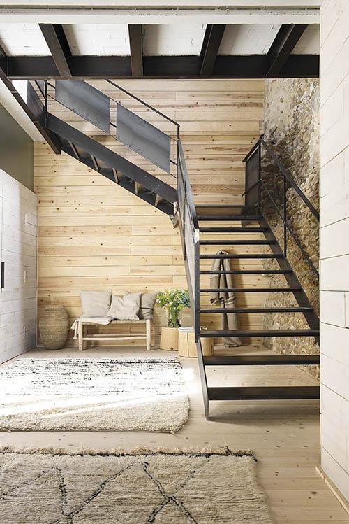 intérieurs de maison en bois