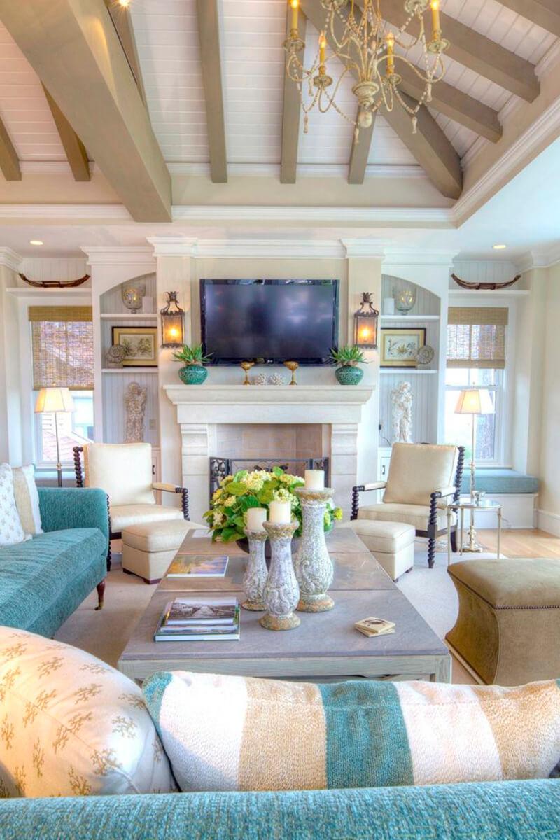 Chambre Familiale aux Accents Sable et Turquoise
