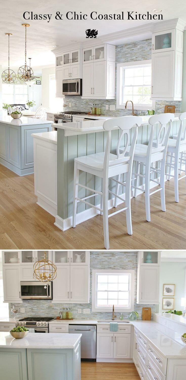 Idées de design d'intérieur de maison de plage de cuisine